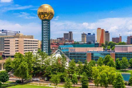 Photo for Knoxville, Tennessee, USA downtown at World's Fair Park. - Royalty Free Image