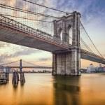 Brooklyn Bridge in New York City, USA at dawn....