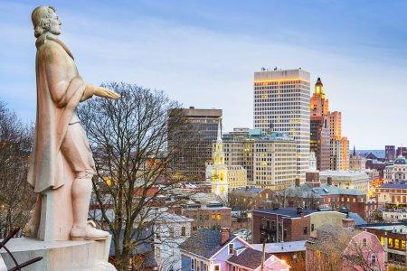 Photo pour Providence, Rhode Island skyline de la ville de Prospect Terrace Park . - image libre de droit