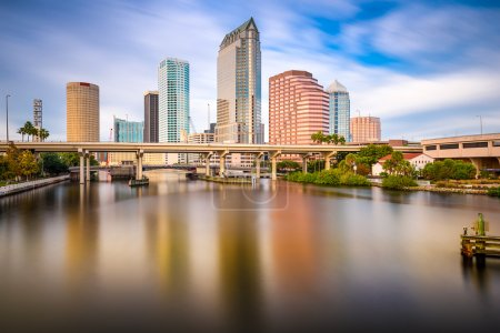 Photo for Tampa, FLorida, USA downtown city skyline on the Hillsborough River. - Royalty Free Image