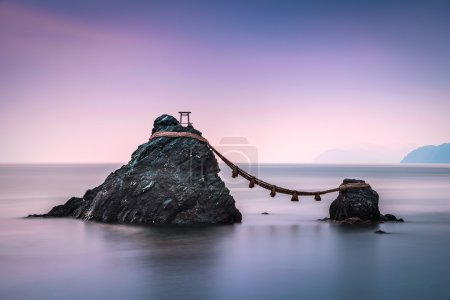 Photo for Ise, Japan at the Wedded Rocks of Futami. - Royalty Free Image