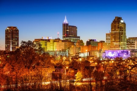 Photo for Raleigh, North Carolina, USA skyline. - Royalty Free Image