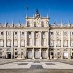 Madrid, Spain at the Royal Palace's courtyard....