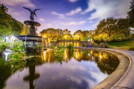 Photo pour New York City, Usa à Bethesda Terrace à Central Park - image libre de droit
