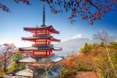 """Постер, картина, фотообои """"Пагода и Mt. Fuji."""""""