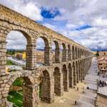 Segovia, Spain at the ancient Roman aqueduct....