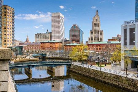 Photo pour Providence, Rhode Island, États-Unis skyline at Waterplace Park . - image libre de droit