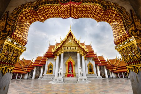 Photo for Wat Benchamabophit, the Marble Temple, in Bangkok, Thailand. - Royalty Free Image