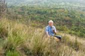Senior man enjoying nature