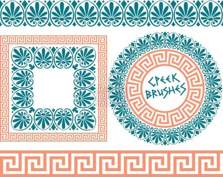 Set 1 Brushes Greek Meander patterns