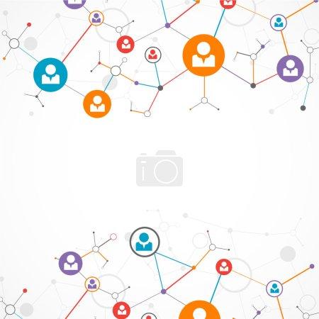 Illustration for Network concept. Social media background - Royalty Free Image