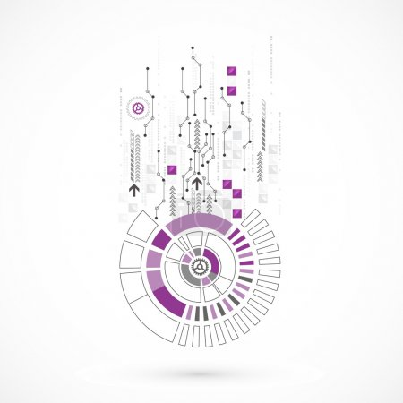 Illustration for Abstract computer technology background for your business. Vector - Royalty Free Image