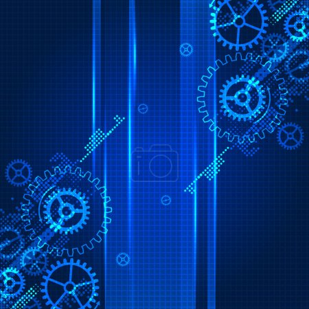 Illustration for Abstract technology business template background. Vector - Royalty Free Image