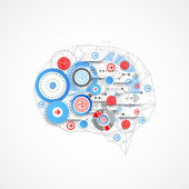 Abstract digital brain technology concept
