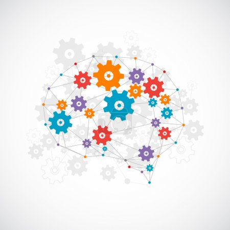 Illustration for Abstract digital brain,technology concept. Vector - Royalty Free Image
