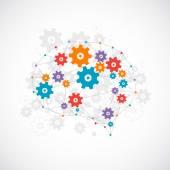 Abstract digital brain concept