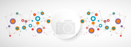 Illustration for Network color technology communication background. Vector - Royalty Free Image