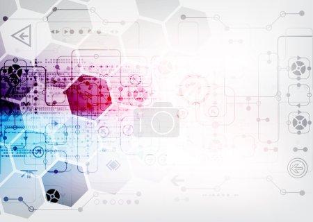 Illustration pour Résumé des technologies de communication numérique. Illustration vectorielle - image libre de droit