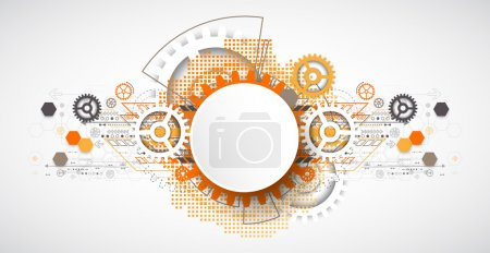 Abstract technology gears background.