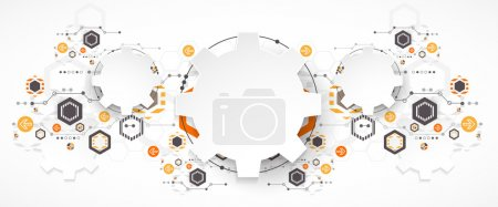 Illustration for Abstract technology background. Cogwheels theme. Vector illustration - Royalty Free Image