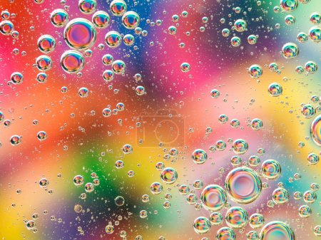 abstract colorful background with bubbles