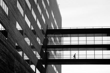 businessman building sihoulette