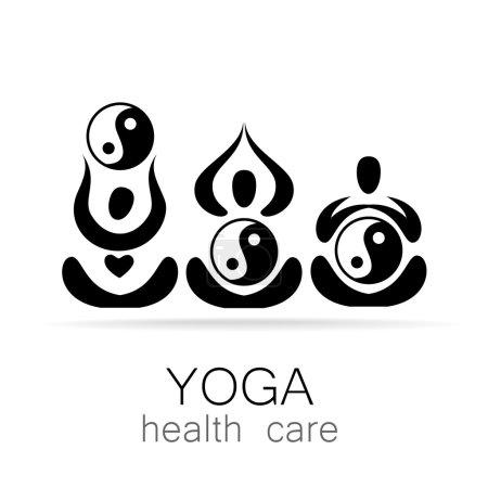 Illustration for Yoga Logo design vector template.  Yoga concept icon. Meditation SPA Logotype. - Royalty Free Image