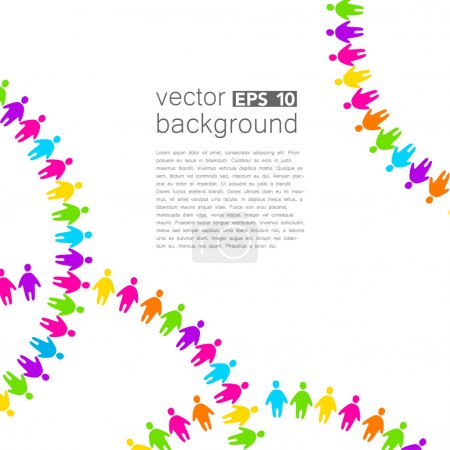 Background template with colorful people. Design t...