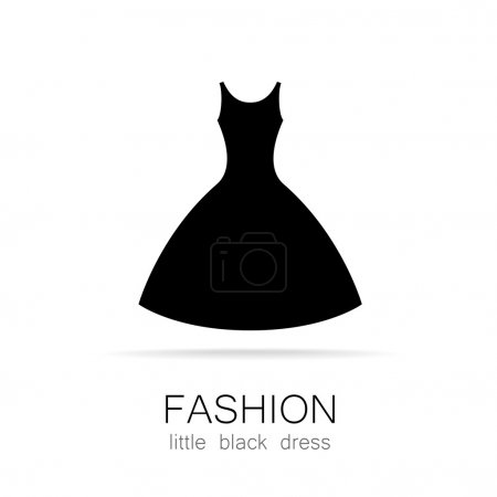 Fashion little black dress template