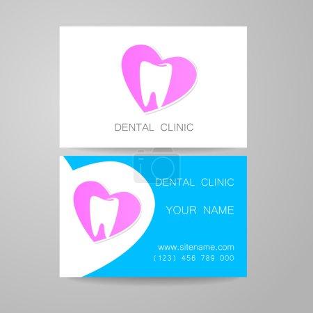 dental clinic logo business card template