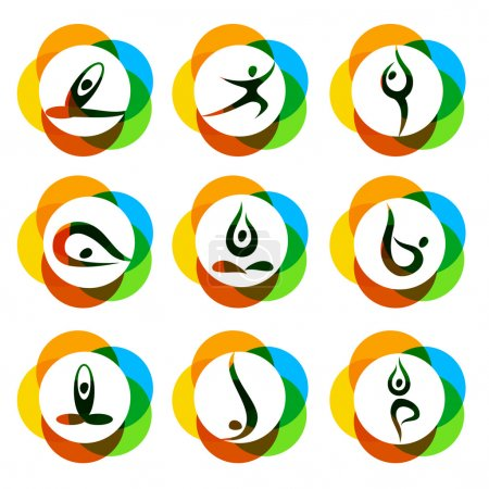 yoga logo set