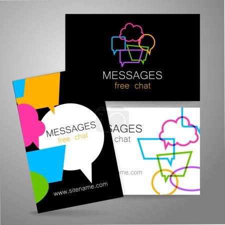 Illustration pour Messages - logo. L'idée de la conception de la marque. Logo pour chat, site de réseautage social, une école de langues étrangères, correspondance par courriel, et d'autres . - image libre de droit