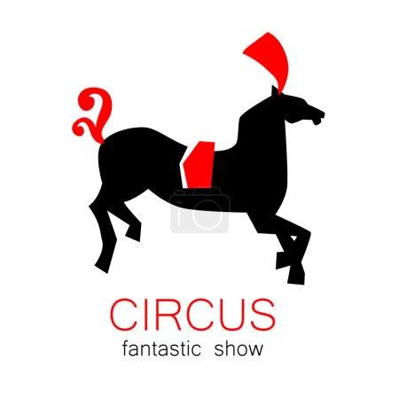 circus show retro logo