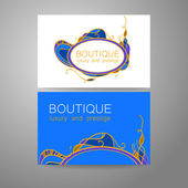 Boutique logo Template design of corporate identity for the prestigious high-end salon  brand restaurant store spa and etc
