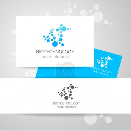 Illustration for Biotechnology. Vector logo template. - Royalty Free Image