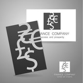 financial company dollar euro sign logo