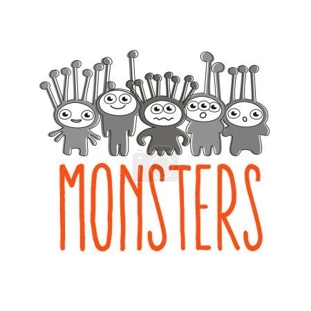 znak logo Monster