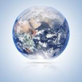 Země světa izolovaných na bílém pozadí