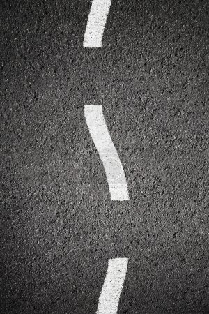 Photo for Asphalt texture background with white line - Royalty Free Image