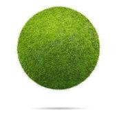Míč trávou izolovaných na bílém pozadí