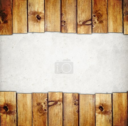 Wooden boards border