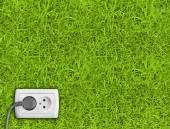 Zástrčky a zásuvky na trávě