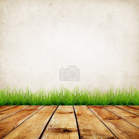 Wall and green grass
