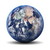 Země světa izolované na bílém