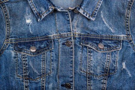 Photo pour Bleu jeans veste fond - image libre de droit
