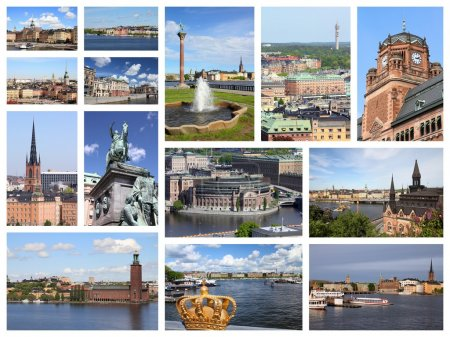 Stockholm landmarks - travel collage