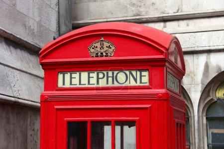 Photo pour Cabines téléphoniques de Londres - borne téléphonique rouge au Royaume-Uni . - image libre de droit