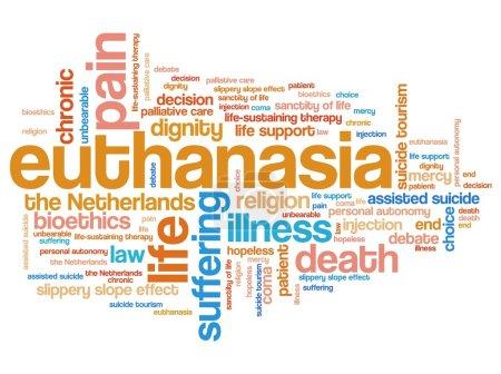 Euthanasia - word concept