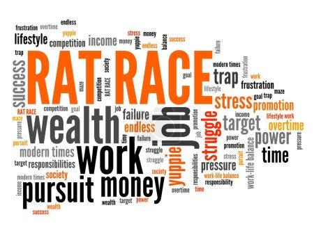Rat race - word cloud