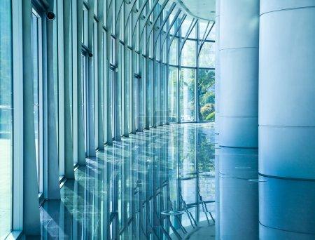 Glass wall corridor backgrounds